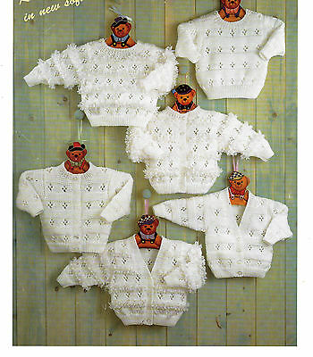 baby girls sweaters and cardigans dk knitting pattern 99p 59