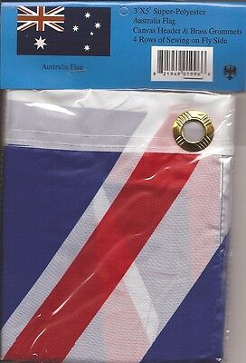 LOT OF 6 Australia 3x5 Polyester Flags $5.95 each,  Australian 3 x 5 flags