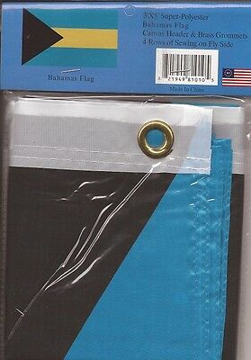 LOT OF 6 Bahamas 3x5 Polyester Flags $5.95 each,  Bahamian 3 x 5 flags