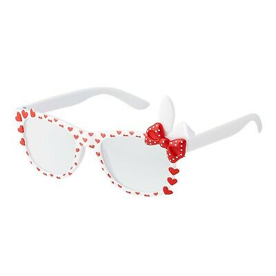 White Bunny Ear Style Kids Costume Glasses Perfect for Parties Hipsters Nerd UK