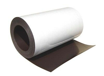 "(20 mil) 0.020""x 8-1/8""x 50ft tof Flexible Magnetic Sheet Roll with adhesive"