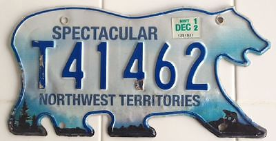2012 Spectacular Northwest Territories Bear Trailer License Plate [T41462]