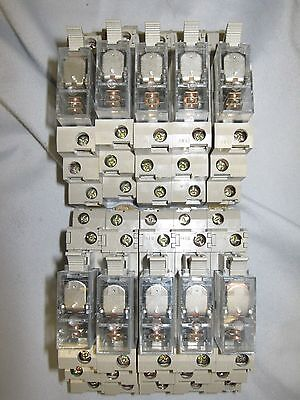 LOT of (10) USED Omron G2R-1-SN 120 VAC Relay with Base 1283C 10A 250V