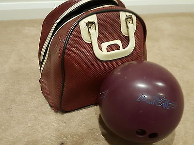 Vintage Retro Amf Bowling Synbad 1F72592 Bowling Ball With Carry Case Bag