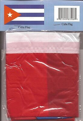 LOT OF 6 Cuba 3x5 Polyester Flags $5.95 Each, Cuban 3 x 5 Flags