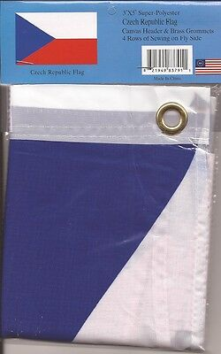 LOT OF 6 Czech Republic 3x5 Polyester Flags $5.95 Each, 3 x 5 Flag