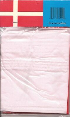 LOT OF 6 Denmark 3x5 Polyester Flags $5.95 Each, Danish 3 x 5 Flag