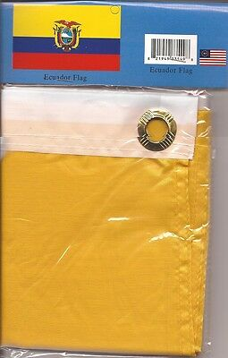 LOT OF 6 Ecuador 3x5 Polyester Flags $5.95 Each, Ecuadorian 3 x 5 Flag