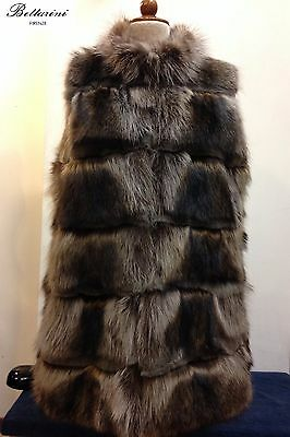 gilet pelliccia di marmotta natural marmot fur jacket Fell marmotte fourrure fox