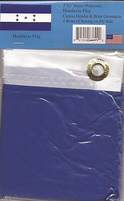 LOT OF 6 Honduras 3x5 Polyester Flags $5.95 Each, Honduran 3 x 5 Flag
