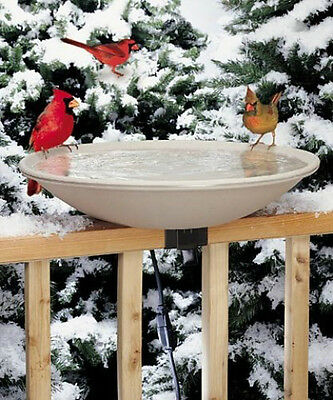 Allied Precision Four Season Ez Tilt Deck Mount Heated Bath For Songbird Lovers!