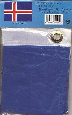 LOT OF 6 Iceland 3x5 Polyester Flags $5.95 Each, Icelandic 3 x 5 Flag