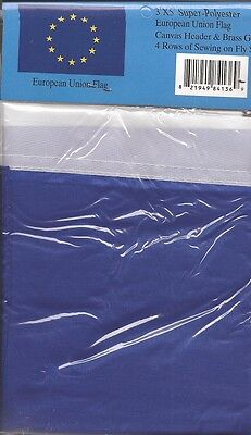 LOT OF 6 European Union 3x5 Polyester Flags $5.95 Each, EU 3 x 5 Flag