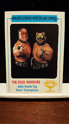 1986 Carnation Major League Wrestling The Road Warriors rookie rc VGEX tough