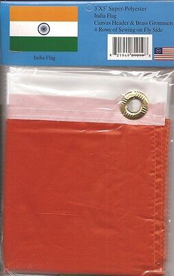 LOT OF 6 India 3x5 Polyester Flags $5.95 Each, Indian 3 x 5 Flag