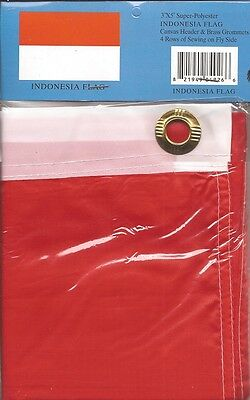 LOT OF 6 Indonesian 3x5 Polyester Flags $5.95 Each, Indonesia 3 x 5 Flag