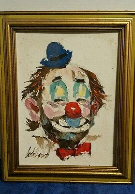 9x12 George Bohland Signed Clown Painting - New Orleans