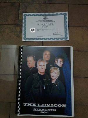 Stargate SG1 prop - Production used original LEXICON with COA