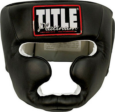 Title Boxing Platinum Full Face Headgear - Black