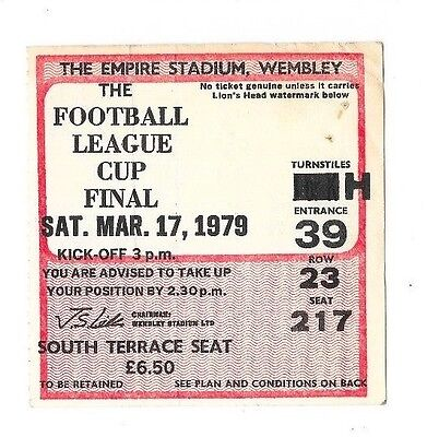 1979 - Nottingham Forest v Southampton, League Cup Final Match Ticket.
