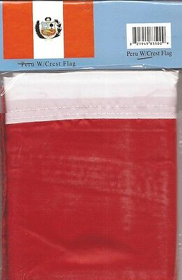 LOT OF 6 Peru 3x5 Polyester Flags $5.95 Each, Peruvian 3 x 5 Flag