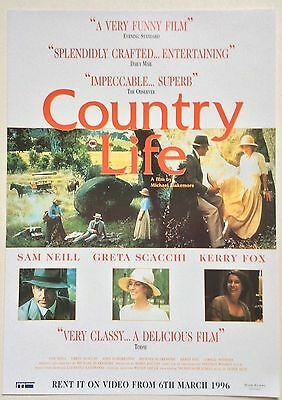 Country Life / Original Vintage Video Film Poster / Sam Neil Greta Scacchi 4
