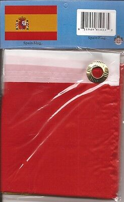 LOT OF 6 Spain 3x5 Polyester Flags $5.95 Each, Spanish 3 x 5 Flag