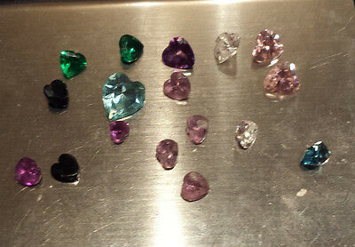 13 carats Loose Heart Amethyst Topaz Gems Various colours, sizes from scrap gold