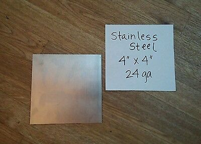"Stainless steel 316 4"" x 4"" 24 gage 4 pieces plate, flat metal sheet  welding"