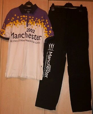 Rare Manchester Commonwealth Games Official Uniform T-shirt & Bottoms Size 14
