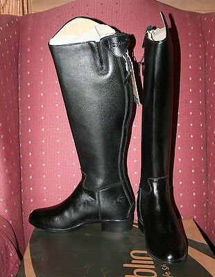 Dublin Monarch Leather Zip Back Dress Boots Ladies 6.5 Wide Calf New