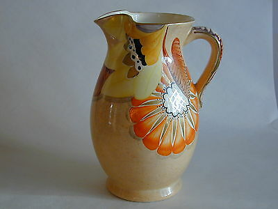 Art Deco Grays Susie Cooper style Large jug gilded & hand painted A2112 signed