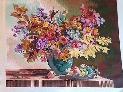 Bunch Of Autumn Flowers Handmade Gobelin/Tapestry By Wiehler