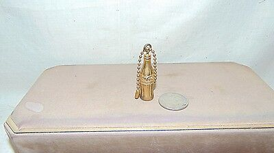 Vintage Gold Tone Coca Cola Mini Bottle Key Chain