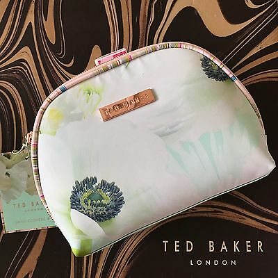 TED BAKER Pearly Petal Cosmetic Purse Make Up Wash Bag Purse NEW with Tag