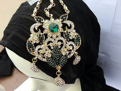 Gold Plated Designer Bollywood Style Jhoomer Head Piece Jewelry