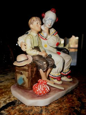 Vtg* Gorham Porcelain Clown Figurine * The Runaway * Inspired by Norman Rockwell