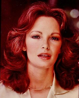 JACLYN SMITH color shot in wearing gold chain Hollywood Celebrity photo (45bh)