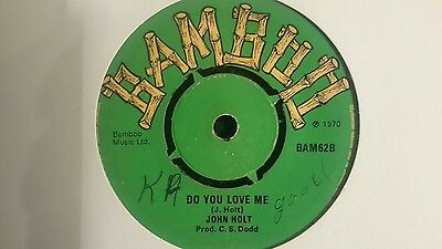 "7""single JOHN HOLT -DO YOU LOVE ME / HOLLY HOLY - BAMBOO RECORDS"