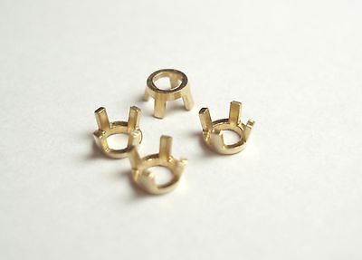 Round, 4 Prong Setting For 4.5 Mm Stone, 14K, 0.58 Grams, 4 Pieces
