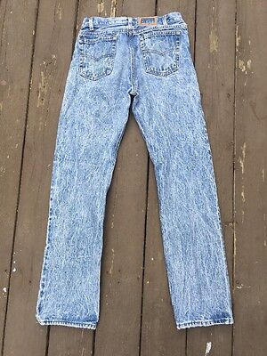 Vtg 80s Mens STUDENT Levis 701 (501) Acid Wash Washed Jeans USA Button Fly 30x29