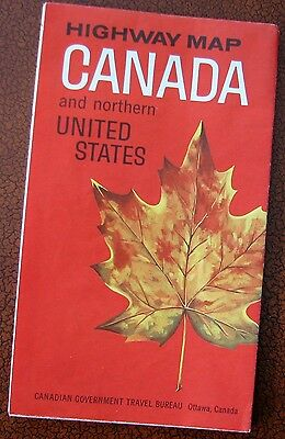 CANADA & northern US     1965   Highway Map