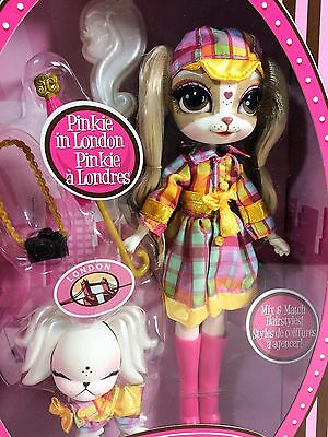 Pinkie Cooper Travel Pinkie in London Collection Doll with Pet NIB New