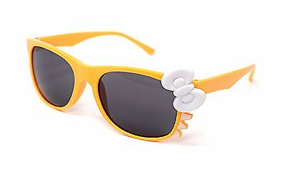 Orange Cat + Bow Style Kids Costume Glasses Perfect for Parties Hipsters Nerd UK