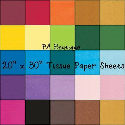 """*28 COLORS!!* Tissue Paper for Gift Wrapping 20""""x30"""" Solid Sheets YOUR CHOICE!"""