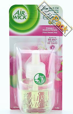 [14,01€/100ml] 12x AirWick Duftstecker Oils Pink Sweet Pea 19 ml Air Wick