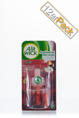 [14,01€/100ml] 12x AirWick Duftstecker Knisterndes Feuer 19 ml Air Wick
