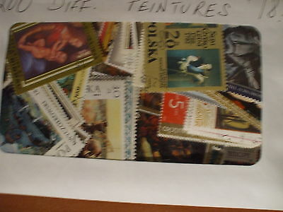 PAINTINGS  200 DIFFERENT STAMPS,  nice selection - Great Masters and less known