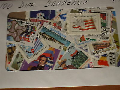FLAGS- SELECTION OF 100 DIFFERENT mainly cancelled, no US, Canada