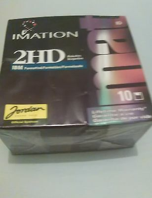 """Imation 3.5"""" Double Sided Diskette Disks 1.44MB IBM Formatted 2HD Sealed Box 10"""